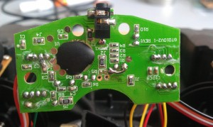 Bottom side of the PCB